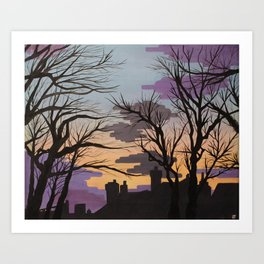 Sunsets over Lytham Art Print