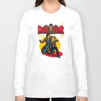 comic Long Sleeve T-shirts featuring Doctor Comic by harebrained