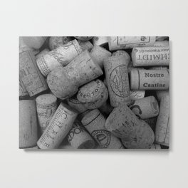 Cork B/W 2 Metal Print