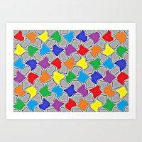 Glowing Dabs of a Rainbow  Art Print