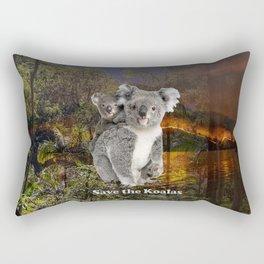 Save the Koalas Rectangular Pillow