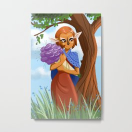 Flower Gatherer Metal Print