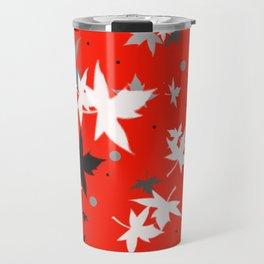 Forever Autumn Leaves red 5 Travel Mug