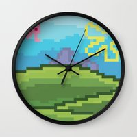 bikini Wall Clocks featuring Bikini Bottom by JayPii