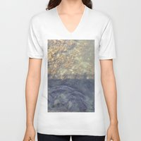 maine V-neck T-shirts featuring Maine Water by Christina Hand