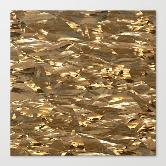 Golden Crinkle Canvas Print