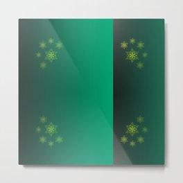 green pattern, shiny Metal Print