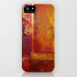 Abstract Art Color Fields Orange Red Yellow Gold by Philip Bowman iPhone Case