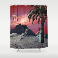chill Shower Curtains featuring Chill by Liall Linz