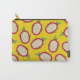 Dragon fruit on yellow background Carry-All Pouch