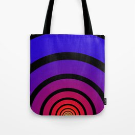 Blue, Red, and Yellow Circles Tote Bag