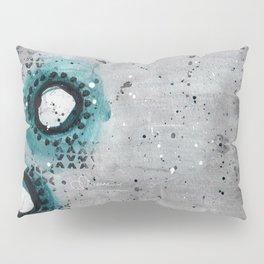 Charcoal Circles Left Pillow Sham