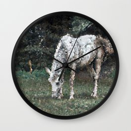 Poly Animals - Horse Wall Clock