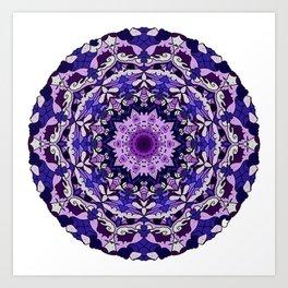 indigo aurora mandala Art Print