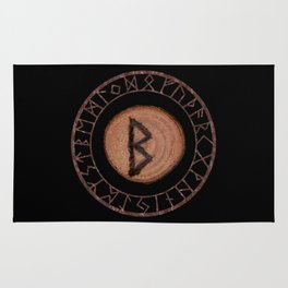 Berkano Elder Futhark Rune secrecy, silence, safety, mature wisdom, dependence, female fertility Rug