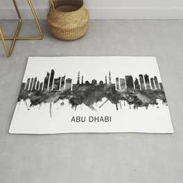 Abu Dhabi UAE Skyline BW Rug