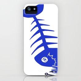 Pirate Bad Fish blue- pezcado iPhone Case
