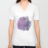 deco V-neck T-shirts featuring Boho Deco by cafelab