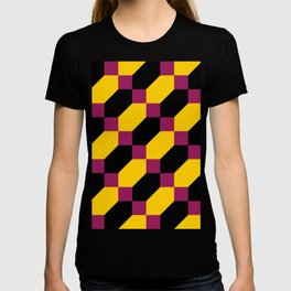 Polygons and squares. Simple. I thought about a chainmail, don't know why. T-shirt
