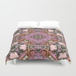 Purple mandala Duvet Cover