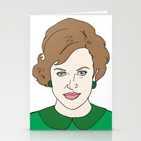 mad men Stationery Cards featuring Peggy Olson - Mad Men by Aishling K