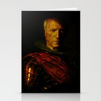 picasso Stationery Cards featuring King Picasso by Ganech joe