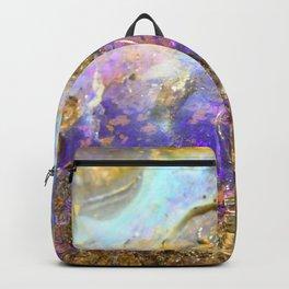 Shimmery Blue & Purple Opal Encrusted in Gold Backpack