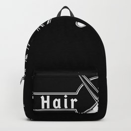 Hair Hustler Typeface Design With Scissors Backpack