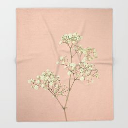 Baby's Breath Throw Blanket