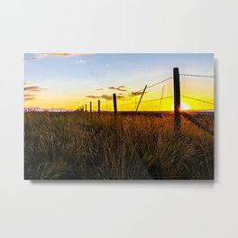 Sunset in Bozeman Metal Print