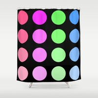 gradient Shower Curtains featuring Gradient by SnakeBees