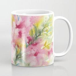 Pink Floral Abstract Coffee Mug
