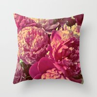 peonies Throw Pillows featuring Peonies by Chelsea Merola