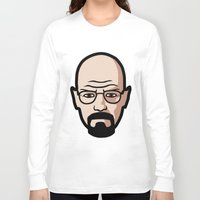 walter white Long Sleeve T-shirts featuring Walter White by Joe Bidmead
