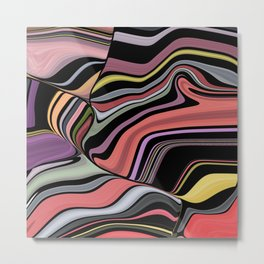 ROMA - bright bold abstract colours with black Metal Print