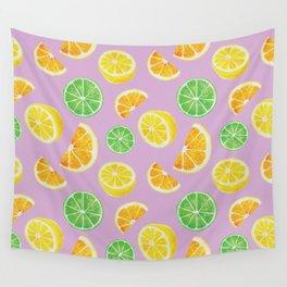 Citrus Pattern Wall Tapestry