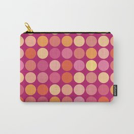 More Polk Dots on Plum Carry-All Pouch