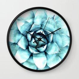 Succulent - A Watercolour Mandala Wall Clock