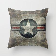Stylized USAF star symbol (roundel)  #1 Throw Pillow