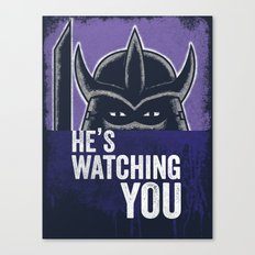 Shredder is Watching Canvas Print