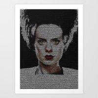 The Bride of Frankenstein Screenplay Print Art Print