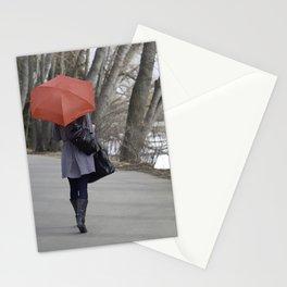 red umbrella Stationery Cards