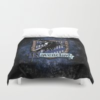 ravenclaw Duvet Covers featuring Ravenclaw team flag emblem iPhone 4 4s 5 5c, ipod, ipad, pillow case, tshirt and mugs by Three Second