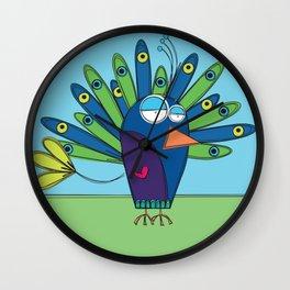Peacock - Paon Wall Clock