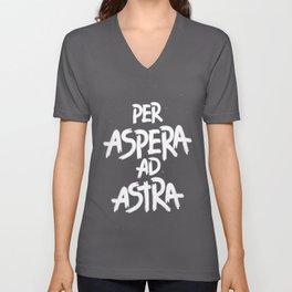 PER ASPERA AD ASTRA Unisex V-Neck