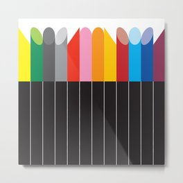 OIL STICKS Metal Print