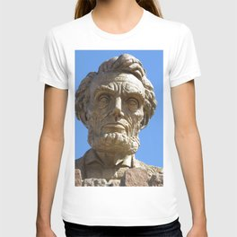 Head of Lincoln on Lincoln Highway T-shirt