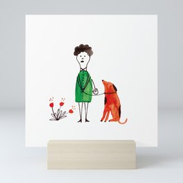 Sunday walk Mini Art Print