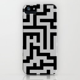 Black and Gray Labyrinth iPhone Case
