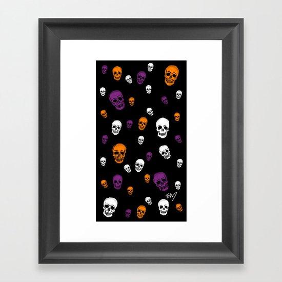 Skulls Galore Framed Art Print